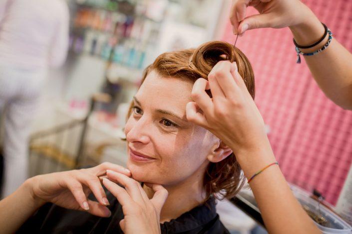 detail coiffure mariée