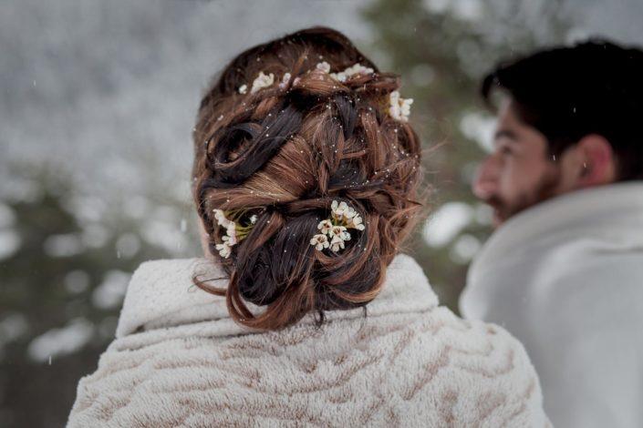coiffure mariée d'hiver prestataires mariage Grenoble Isère Rhone Alpes