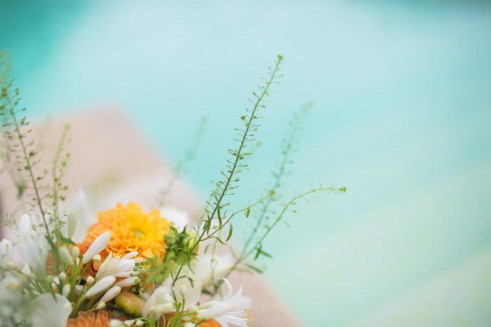 détail bouquet decoration mariage