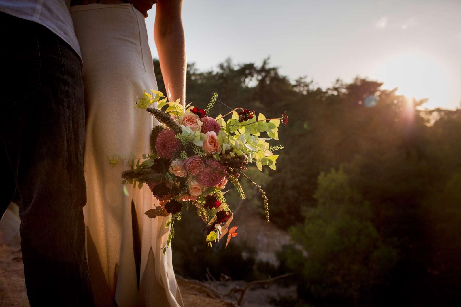 bouquet de mariée ambiance bohème chic